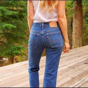 Vintage Levi's 501 Super Skinny Jeans Size 31x30